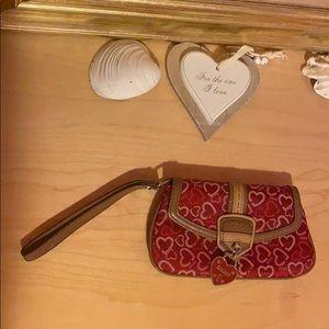 XOXO Heart-Print Wristlet